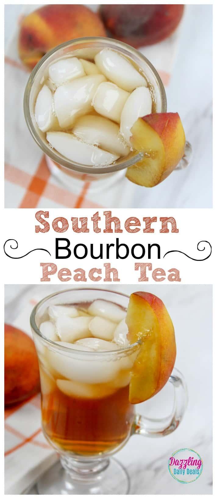 Southern Bourbon Peach tea
