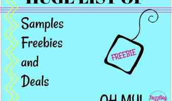 HUGE List OF Samples Freebies and Deals