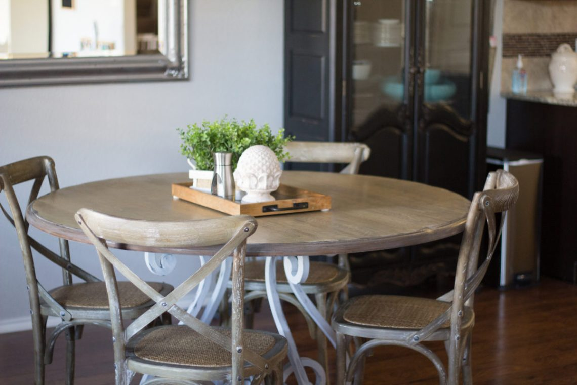 DIY Refinished Painted Kitchen Table - Dazzling Hospitality