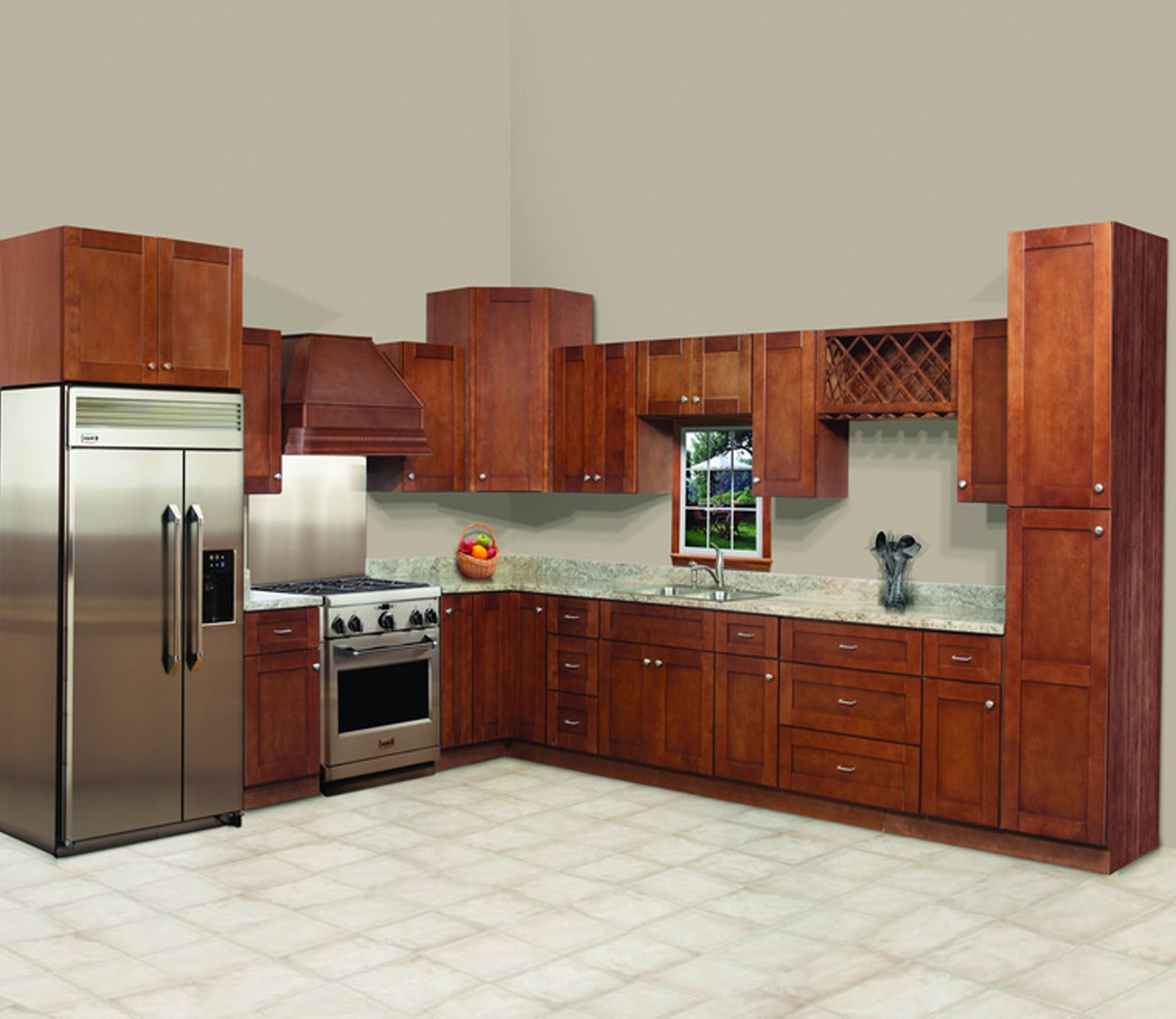 North American style kitchen cabinet