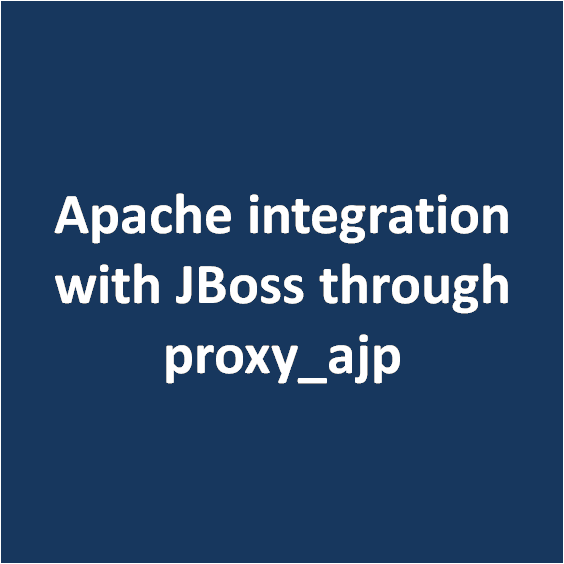 Apache integration with JBoss through proxy_ajp - DbAppWeb com