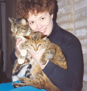 D. B. Borton with two cats