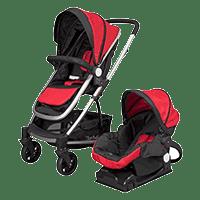 D'bebé carriola sistema de viaje corona roja