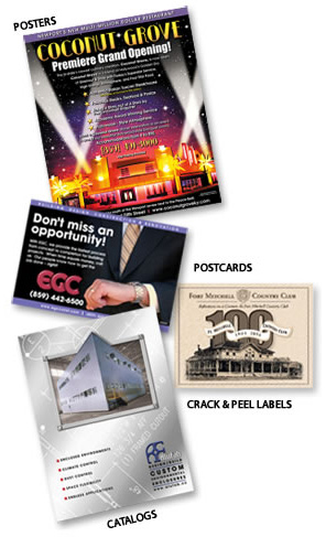 Posters, Postcards, Catalogs, Crack and Peel Labels