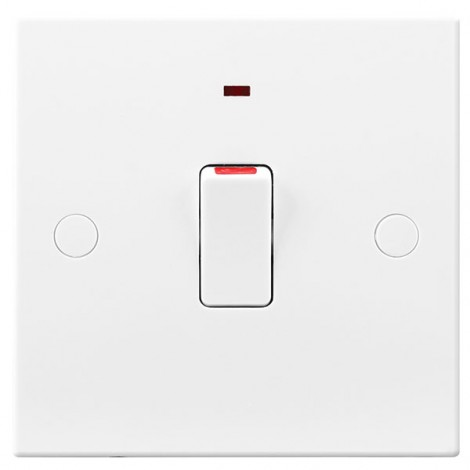 BG Electrical 931 White Double Pole Switch with Flex