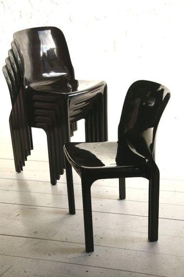 Selene Chairs, Vico Magistretti (Cassina)