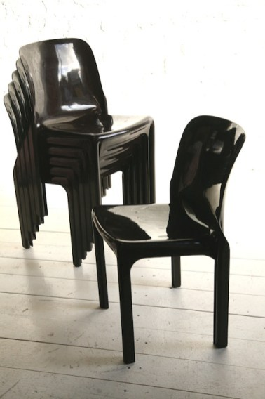 Selene Chairs, Vico Magistretti (Cassina)