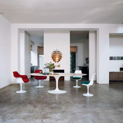 Tulip chair & Marble table, Eero Saarinen (Knoll)