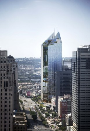 Commercial mixed-use WINNER - Aedas - Taichung Commercial Bank Headquarters Mixed-Use Project, Taiwan / Aedas