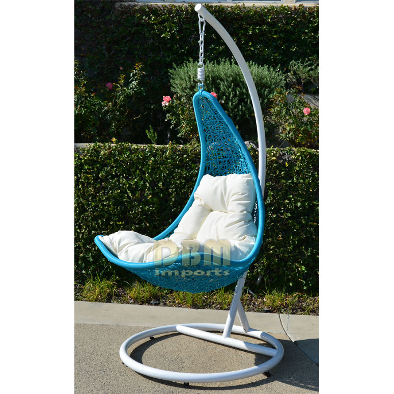 Egg Shape Wicker Rattan Swing Lounge Chair Weaved Hanging