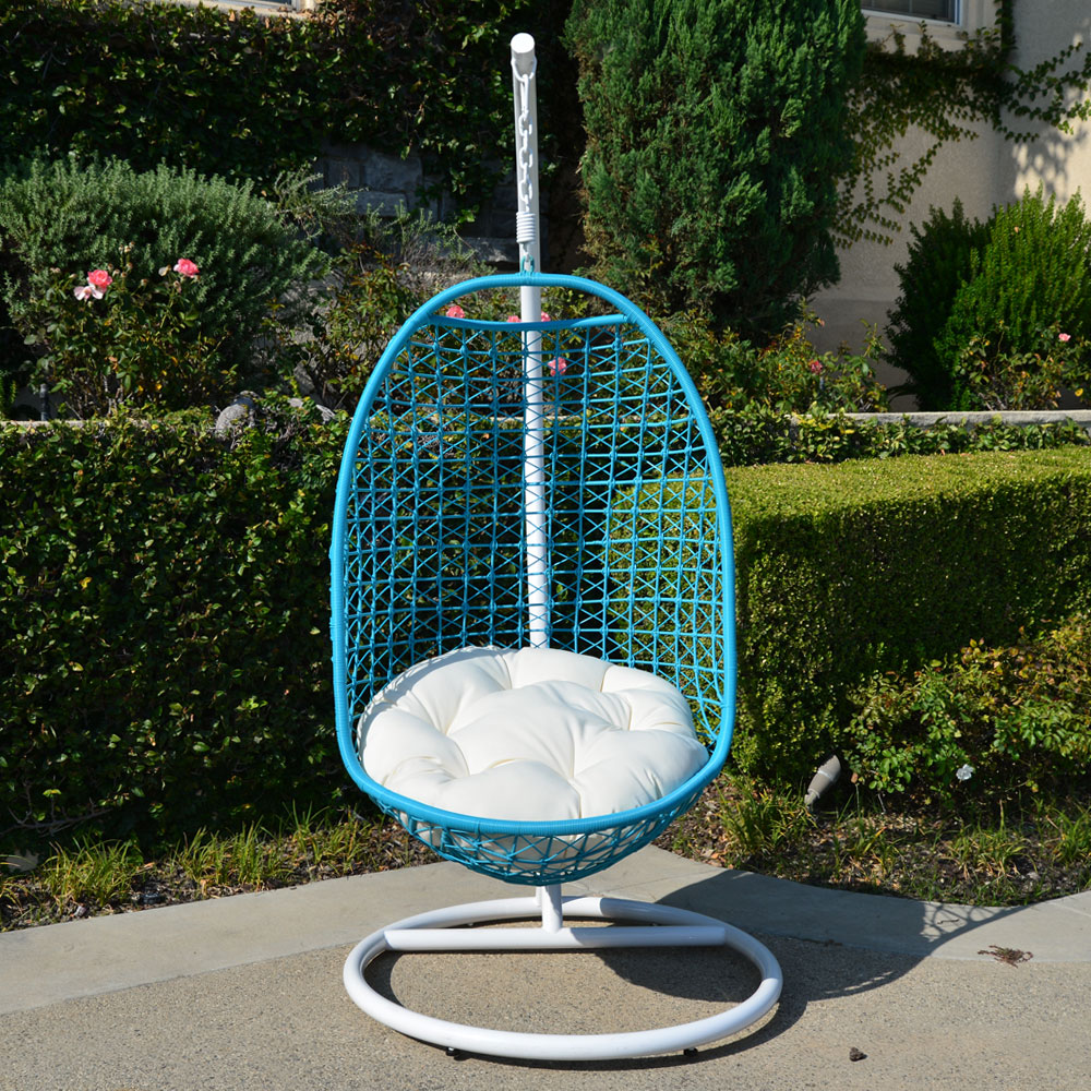 outdoor wicker swing chair brown folding chairs wedding rattan bed weaved egg shape hanging hammock in or out door patio porch ...