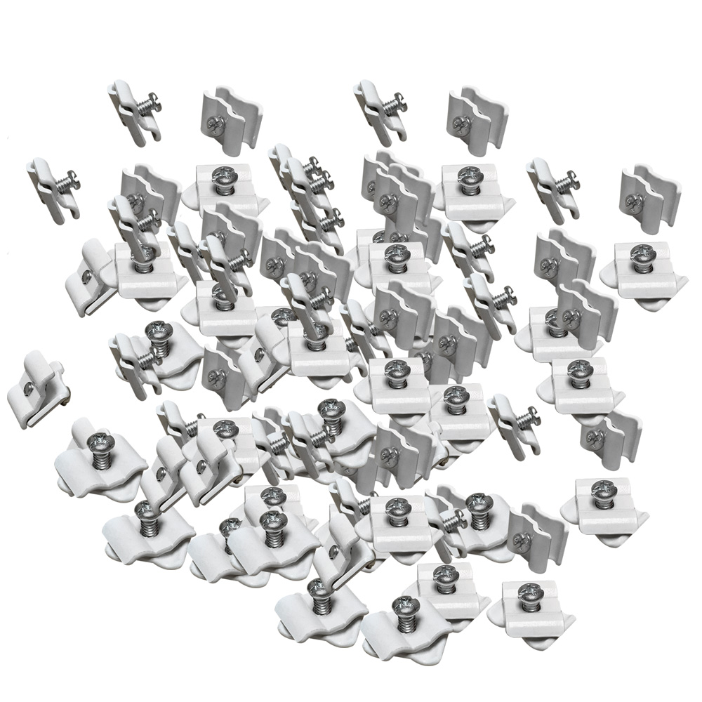100 White Wire Grid Connector Clamp Joiner Gridwall Panel