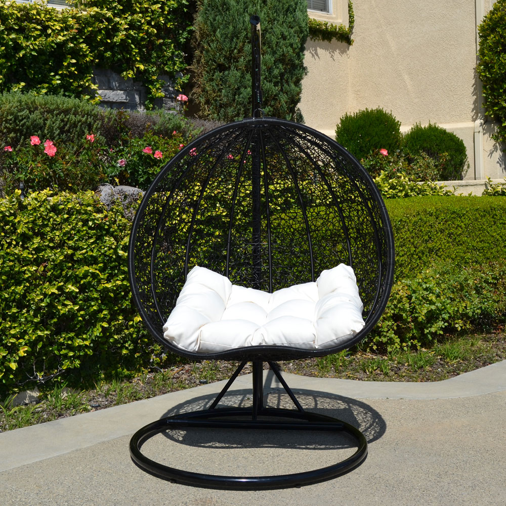 hanging hammock lounge chair benefits of yoga 2 persons seater bird egg nest wicker rattan swing home patio furniture furtinure in or out door porch