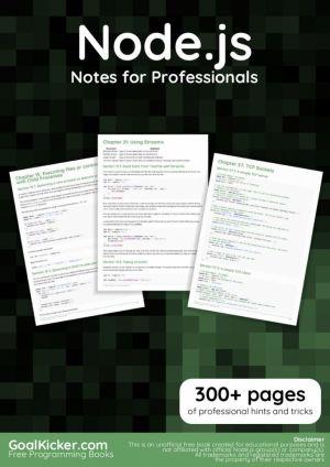 Node.js Notes for Professionals