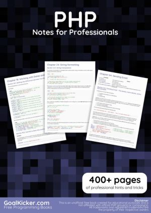 PHP Notes for Professionals