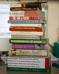 Photo of a stack of books by Chris Champan, via Flickr