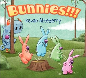 """Bunnies!!!"" book cover"