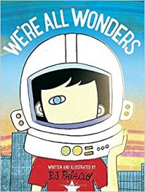 """""""We're All Wonders"""" book cover"""