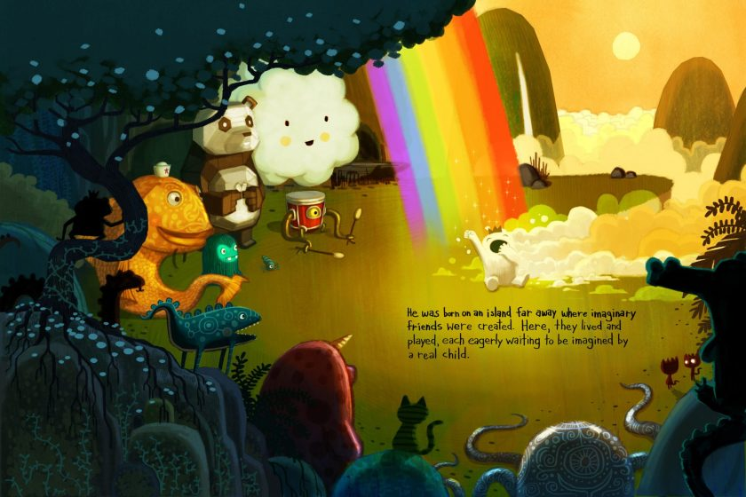 """Page from """"The Adventures of Beekle: The Unimaginary Friend"""""""
