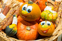 Photo of painted pumpkins