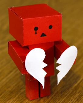 Photo of a sad box