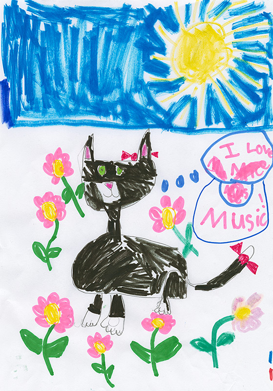 """Alyssa Hall, New Bloomfield - """"Ketzal: The Cat Who Composed"""" by Leslea Newman"""