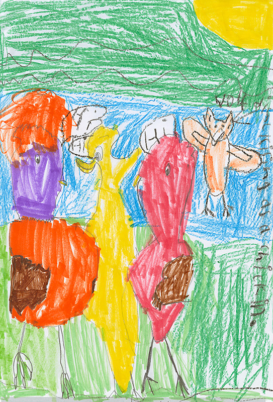 "Kadence Shramek, Williamsburg - ""The Chicken Sisters"" by Laura Numeroff"