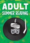 Adult Summer Reading, Libraries Rock logo on record player