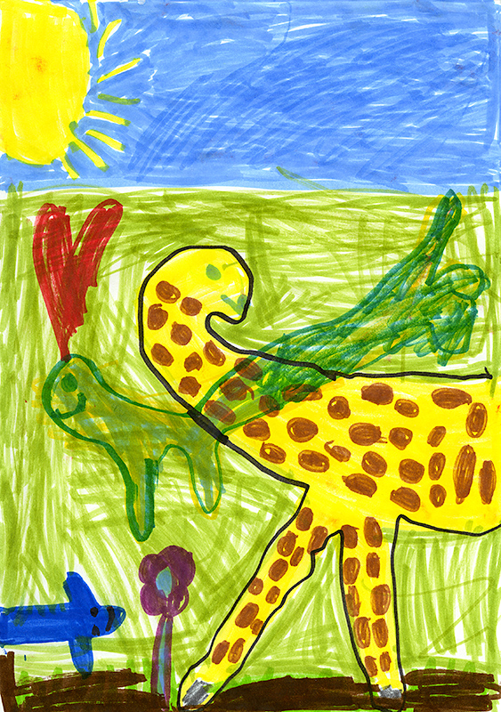 "Rachel Baita, Auxvasse Elementary - ""Giraffes Can't Dance"" by Giles Andreae and Guy Parker-Rees"