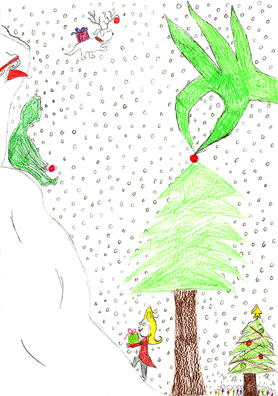 "Jenna Painter, New Bloomfield Elementary - ""How the Grinch Stole Christmas"" by Dr. Suess"