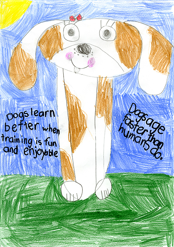 "Mallory Hawkins, Southern Boone Elementary - ""Woof! "" by Elizabeth Carney"
