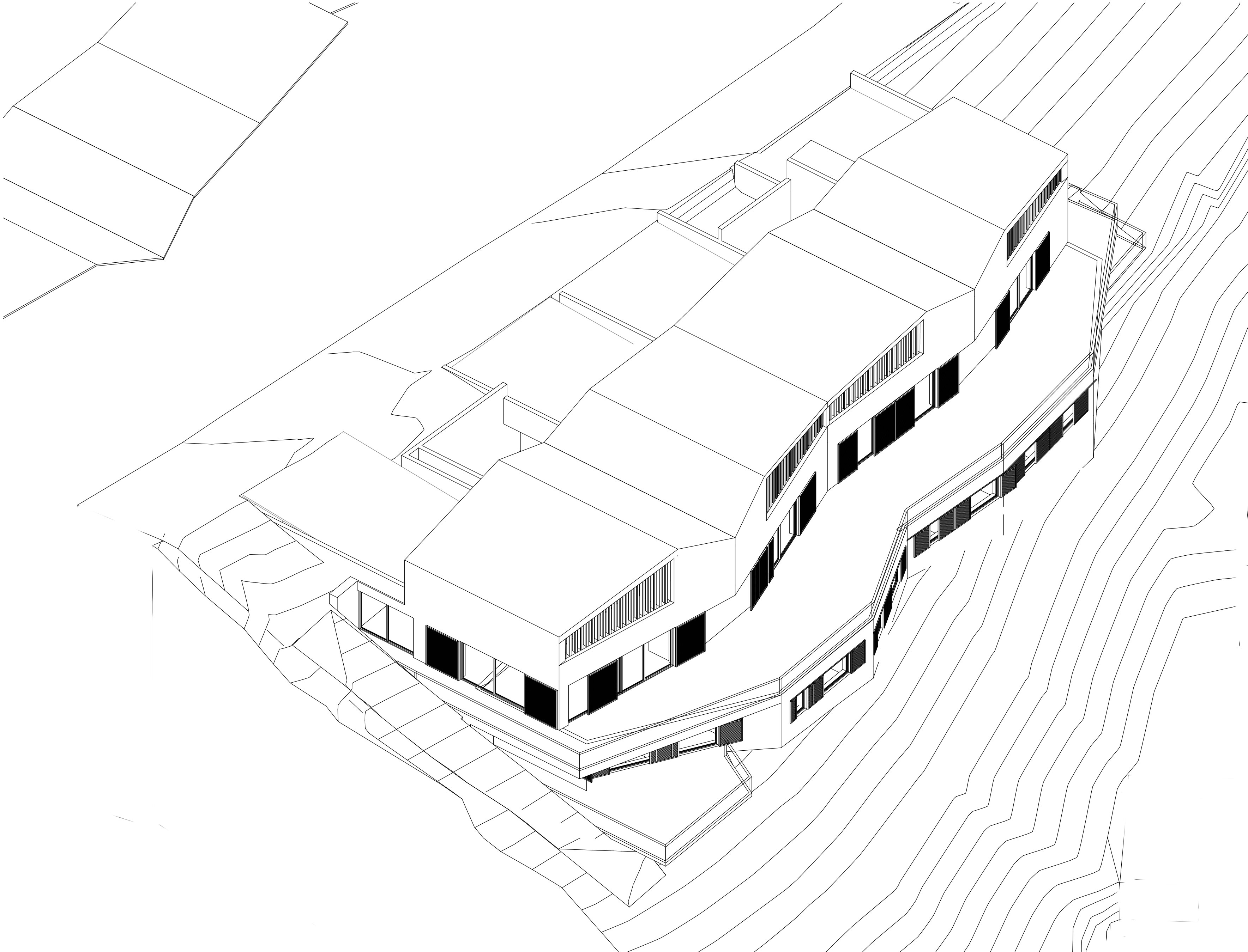 ... And Architecture: The Plans Follow The Sloping Ground, Generating An  Unusual Volume Whose Different Gable Roofs Are Inspired By Swiss Mountains.
