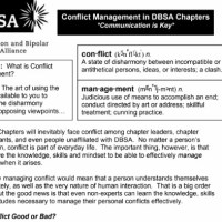 Conflict Management in DBSA Chapters