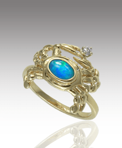 Opal Crab Ring
