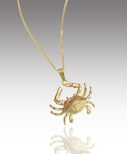 Satin Shell Crab Pendant
