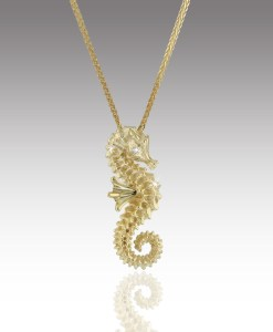 Delicate Seahorse Pendant
