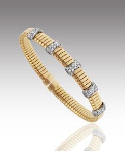 Five Station Wrapped Diamond Bracelet