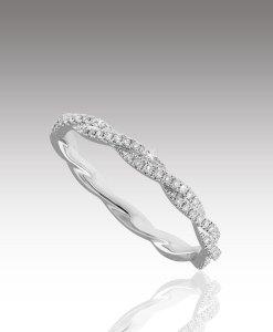 Micro Diamond Twist Ring