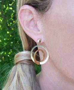 Double Hoop Earring & Jacket