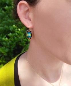 Cloisonné Enamel Earrings