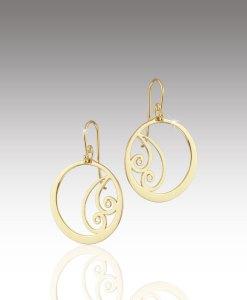 Waves in Circle Earrings