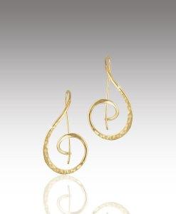 Textured Swirl Hoop Earrings