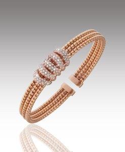 Diamond Wrap Tri-Band Bracelet