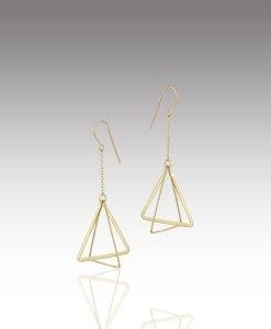Triangle Orbit Earrings