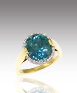Blue Zircon Ring