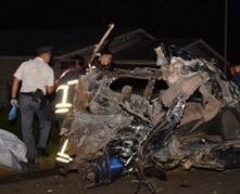 Het voertuig betrokken bij het ongeval