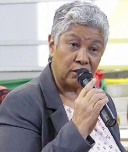 Onderwijsminister Lillian Ferrier