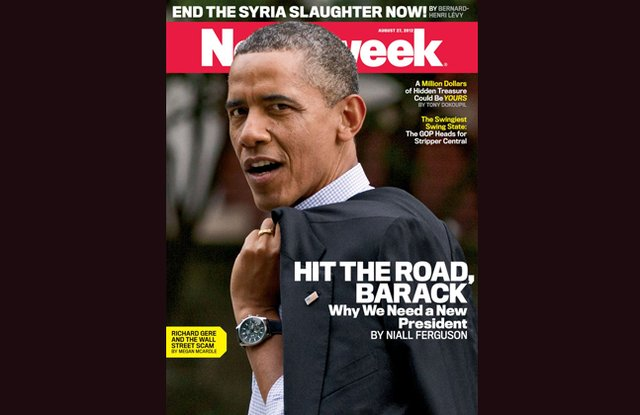 """Newsweek """"Hit The Road Barack"""" Cover Sparks Outrage"""