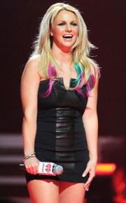 britney spears hair rainbow
