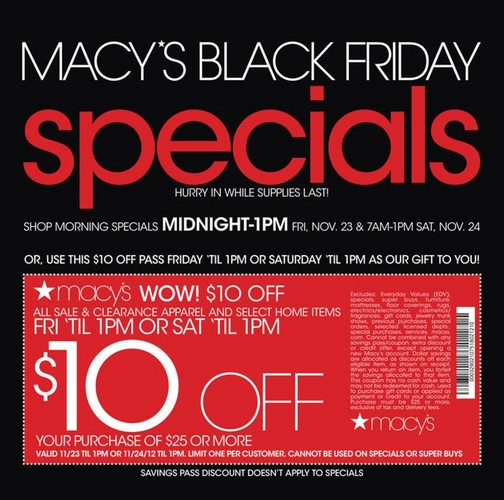 Macys Promo Codes in November in Australia. Here is the best Coupons: Black Friday & Cyber Monday Sale for Macys.